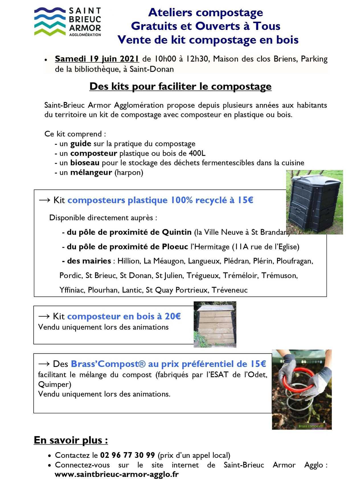 ateliers compostagegratuits et ouverts a tous vente de kit compostage en bois