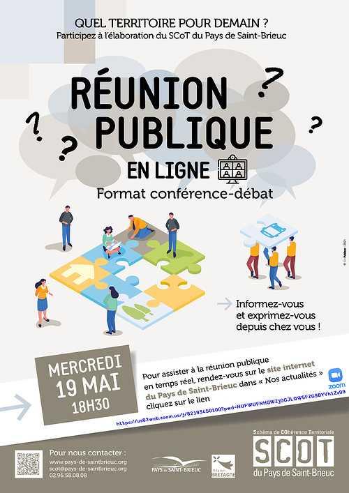 ÉLABORATION DU SCOT : Réunion Publique en ligne 0