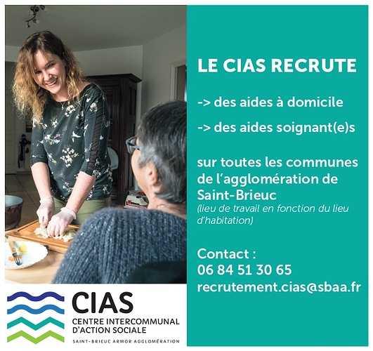 LE CIAS RECRUTE /Job dating (visio et/ou téléphonique) le 7 juin 2021 0