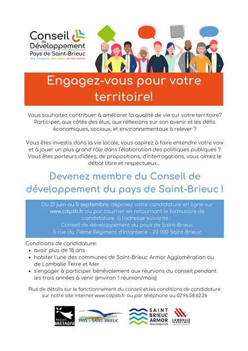 Appel à candidature Conseil de développement 0